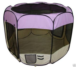 Purple Pet Dog Cat Tent Puppy Playpen Exercise Pen S