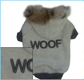 Dog Clothes Woof Hoodie Sweatshirt Sweater Coat Shirt