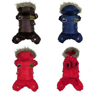 Dog Clothing Coat Thick Cool Air Force Dog Jacket Sweater Clothes Autumn Winter