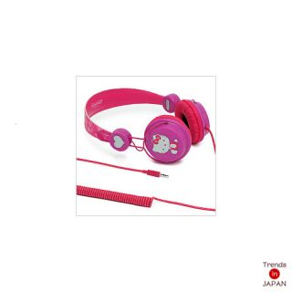 Hello Kitty Sanrio Coloud ZD Headphone Head Phone Stereo Ear Glitter New Japan