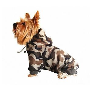 Dog Camo Hoodie Winter Sweater Coat Pet Clothes Doggie Camouflage XXS XS s M L