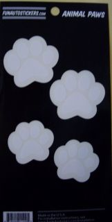 New 4 PC Animal Paws Paw Prints Pet Cat Dog Car Decal Sticker Funautostickers