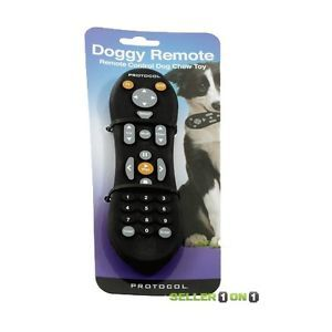 Protocol Remote Control Black Dog Chew Toy Teething Play Rubber Pet Supply Puppy