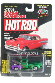 Racing Champions Hot Rod Magazine `50 Chevy PU 41