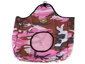 Pink Camo Horse Hay Bags Feeders Great for in The Barn or Trailer Tack