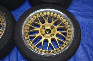 Work vs VSXX 4 Lug RARE 4x114 3 Wheels Rims JDM SSR Rays Volk Advan s13 s14 LM