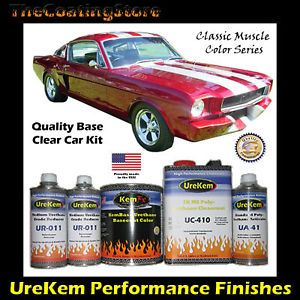 Candy Apple Red Urethane Basecoat Clear Coat Car Paint Auto Paint Kit