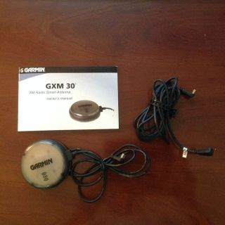 Garmin GXM30A XM Satellite Antenna with 6 5' Extension Power Cord and Manual