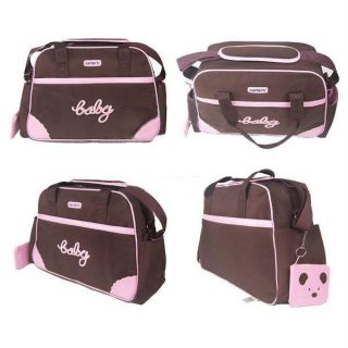 Carter Pink Baby Diaper Nappy Changing Bag 4pcs