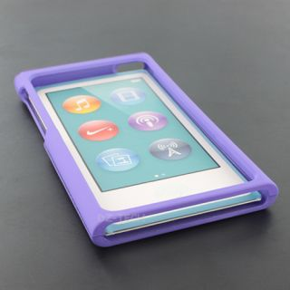 Purple Rubberized Hard Case Snap on Cover for Apple iPod Nano 7 7th 7g Accessory