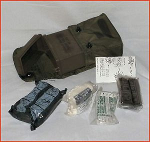 First Aid Kit US Army Military Surplus Alice LC 1 Pouch with Contents Belt Clips
