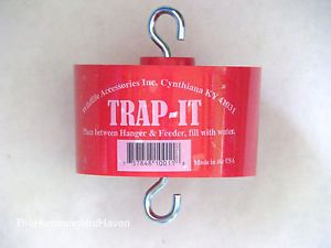 Trap It Ant Moat Barrier Guard for Hummingbird Feeders Red Black or Green