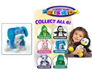 Flashlight Friends Blue Puppy Dog as Seen on TV Asotv Huggable Light