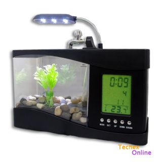 Mini Multi Function Small Fish Tank USB Desktop Lamp Light LED Aquarium New