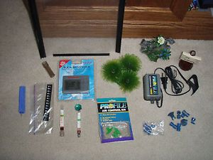 Fish Tank Supplies Lot 1 10 Gallon Tank Divider Plant Stone Decor Air Pump More