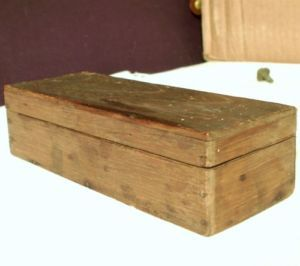 Vintage Antique Wooden Box Type Typeset Printing Wood Letterpress Tool Ink Art