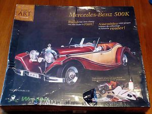 Built Art Collection 1 10 Scale Mercedes Benz 500K Convertible Paperboard Kit
