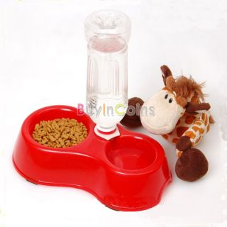 New Automatic Water Dispenser Dog Cat Pet Food Dish Bowl