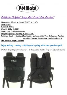 "Pet Carrier ""Pet Dog Puppy Cat Legs Out Front Carrier"" Travel Outdoor Walking"