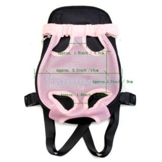 Front Style Pink Pet Dog Carrier Backpack w Legs Out Design Size s Brand New