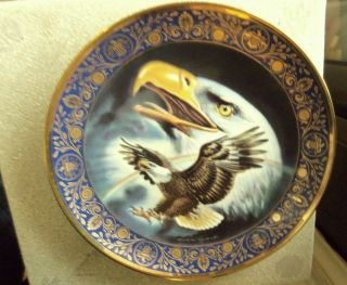 "Royal Doulton Eagle Collector's Plate ""Profile of Freedom"" Franklin Mint"