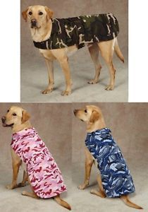 Camo Barn Coat Dog Jacket All Sizes Warm Water Repellent Fleece Lined Blanket