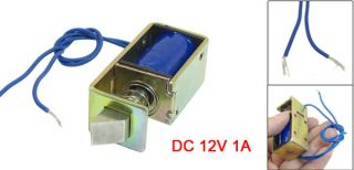 Door Lock Assembly Open Frame Actuator Solenoid 12VDC 1A 10mm Stroke 15N Force