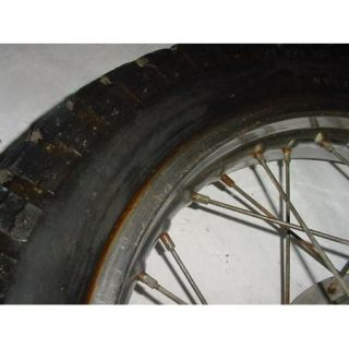 75 Suzuki TS250 TS 250 Rear Wheel Rim Tire