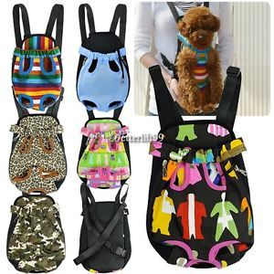 Nylon Puppy Pet Dog Carrier Backpack Front Legs Out Any Size and Pattern