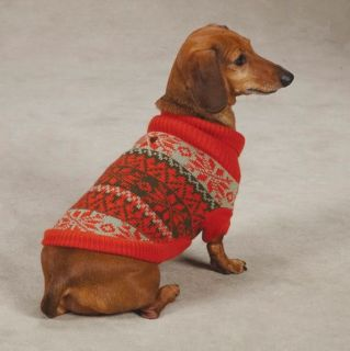 Snow Lodge Dog Turtleneck Sweater Pet Zack Zoey Pet Apparel Brown Orange New