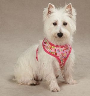 Spring Garden Soft Fabric Dog Harness Harnesses Pink Flowers