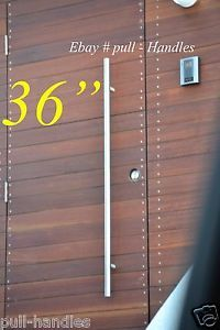 36 inch Pulls Handles Entry Door Gate Entrance Door Stainless Steel Modern