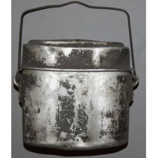WWII WW2 German Wehrmacht Military Aluminum Mess Kit Food Can