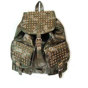 Studs Studded Spike Spiked Bag Military Army Backpacks Bookbags Glitter Bag