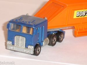 Hot Wheels Steering Rigs Bob's Sand Gravel Peterbilt 1980