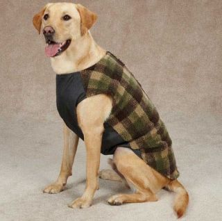 Zack Zoey Berber Ripstop Vest Dog Coat Jacket Pet Warm Winter Sleeveless