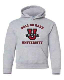 Balls So Hard University Hooded Sweatshirt Shirt Funny DJ Rap Hip Hop College