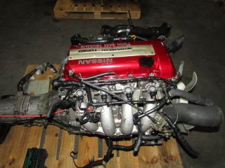 JDM Nissan Silvia SR20DET s13 Red Top Engine 5 Speed rwd Transmission 240 Swap