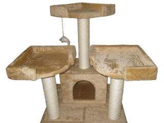 "51"" Cat Tree House Toy Bed Scratcher Post Furniture F39"
