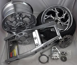 05 06 Suzuki GSXR 1000 1K 240 Fat Tire Chrome Swingarm Kit Wheels Roaring Toyz