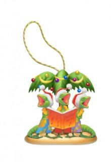Hawaiian Geck The Halls Xmas Ornament Hawaii New Gecko Lizards w Santa Hats