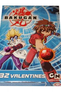 Bakugan Battle Brawlers Boys Happy Valentines Day Cards Letters Dan New