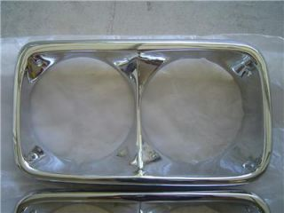 New Reproduction GMC 1967 1972 Headlight Bezels for Pickup Truck Jimmy Suburban