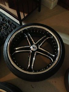 "Set of 4 22"" asanti Wheels Michelin Tires for Mercedes S550"