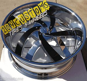 "24"" inch Wheels Rims Tires VW825 Chrome 6x135 Ford F150 2009 2010 2011 2012"