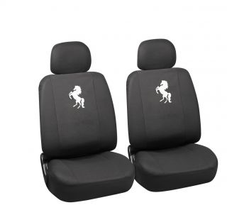 21pc White Horse Seat Cover Set Floor Mats for Ford Horse Explorer Logo