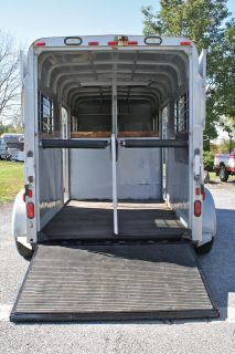 1994 Sundowner 2 Horse Gooseneck Trailer Rear Ramp Straight Load L K