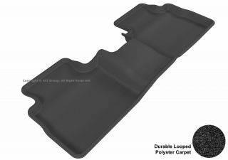 3D Maxpider Nissan Rogue 08 12 Classic Black Second Row Rubber Molded Floor Mat