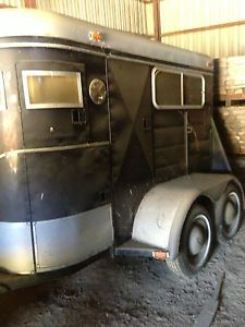 Miley Single Horse Bumper Pull Horse Trailer Warehouse Kept