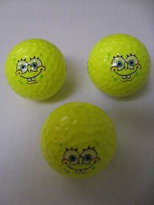 Yellow Spongebob Golf Balls